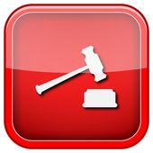 Rechter hamer pictogram — Stockfoto