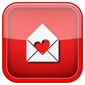 Stuur liefde pictogram — Stockfoto