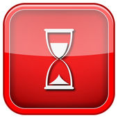 Hourglass icon — Foto de Stock