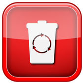 Recycle bin icon — Stock Photo