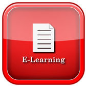 E-learning icon — Stock Photo