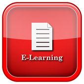 Icône de l'e-learning — Photo