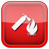 Fire icon — Stockfoto