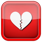 Broken heart icon — Stock Photo