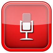 Icône de microphone — Photo
