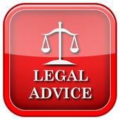 Juridisch advies pictogram — Stockfoto