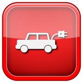 Elektrische auto pictogram — Stockfoto