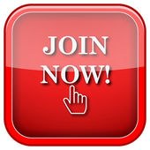Join now icon — Stock Photo