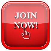 Rejoignez maintenant l'icône — Photo