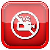 Icône de caméra de vidéo interdite — Photo