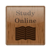 Study online icon — Stock fotografie