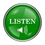 Listen icon — Stock Photo #37170889