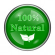 Stock Photo: 100 percent natural icon