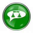 Chat icon - men in bubble — Stock Photo #37172753