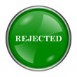 Rejected icon — Stock Photo