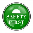 Stock Photo: Safety first icon