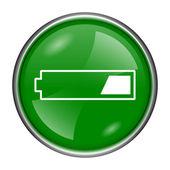 1 第三次充电的电池图标 — 图库照片