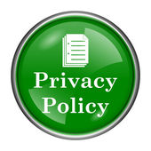 Privacy policy icon — Стоковое фото