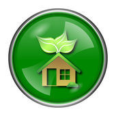 Eco house ikonen — Stockfoto