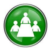 Meeting room icon — Stock Photo