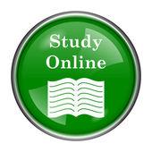 研究オンラインのアイコン — ストック写真