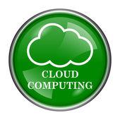 Cloud computing ikona — Stock fotografie
