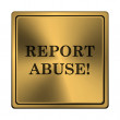 Report abuse icon — Stock Photo