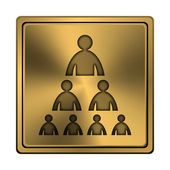 Organizational chart with people icon — Stock Photo