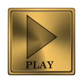 Play icon — Stock Photo