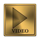 ビデオ再生アイコン — ストック写真