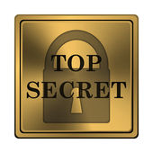 Top geheime-icoon — Stockfoto