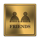 ícone de amigos — Fotografia Stock