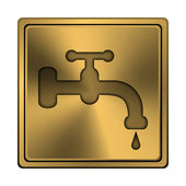 Water tap icon — Foto de Stock