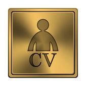 значок cv — Стоковое фото