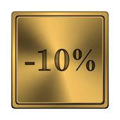 10 procent rabatt ikonen — Stockfoto