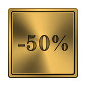 50 percent discount icon — Foto de Stock
