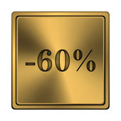 60 percent discount icon — Stock fotografie