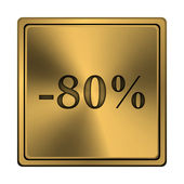 80 percent discount icon — Stock fotografie