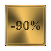 90 percent discount icon — Stock Photo