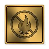 Brand förbjudna ikonen — Stockfoto