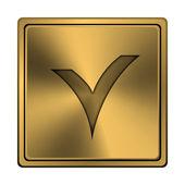 V checked icon — Stock Photo