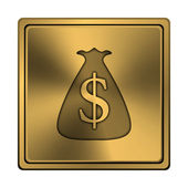 Dollar sack icon — Stock Photo