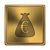 Euro sack icon — Stock Photo