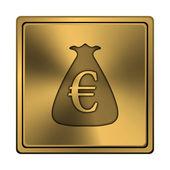 Euro pytel ikona — Stock fotografie