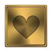 Hjärta ikon — Stockfoto