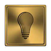 Light bulb - idea icon — Stock Photo