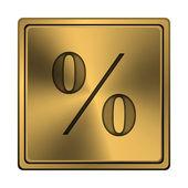 процент значок — Стоковое фото