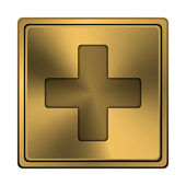 Medical cross icon — Stock Photo