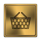 购物篮图标 — 图库照片