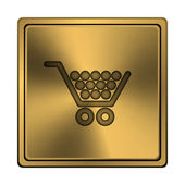 Shopping cart-ikonen — Stockfoto